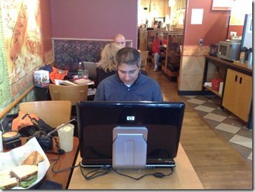 Steve@panera with HP HDX Dragon