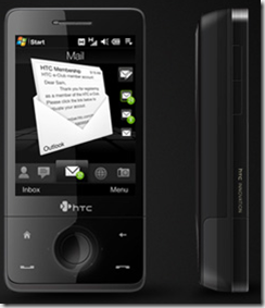 HTC Touch Pro front and side