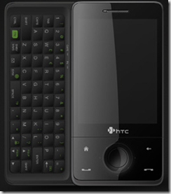 HTC Touch Pro with 5 row keyboard out