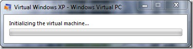 Initializing virtual machine