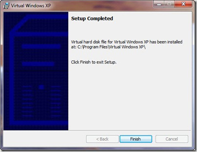 Virtual Windows XP Setup Complete