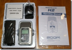 Zoom H2 Box contents
