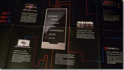Front of Zune HD Pamphlet